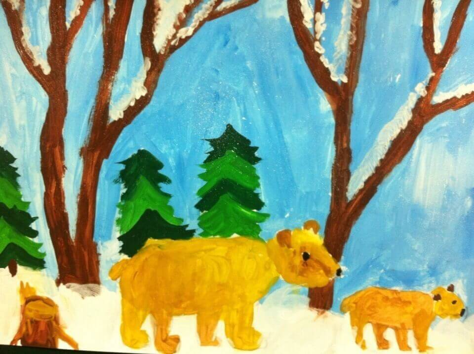 покраски одной картинки рисование животных в старшей группе около